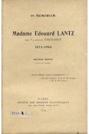 Anonyme - In mémoriam. Madame Edouard Lantz, née Valentine Ehrhardt (1873-1906)
