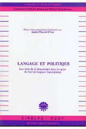 ANS André-Marcel d', (sous la direction de) - Langage et politique. Les mots de la démocratie dans les pays du Sud de l'espace francophone