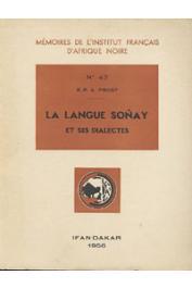 PROST André, (R.P.) - La langue Sonay et ses dialectes