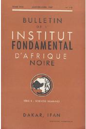 Bulletin de l'IFAN - Série B - Tome 29 - n°1-2 - Janvier-Avril 1967