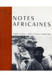 Notes Africaines - 133