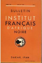 Bulletin de l'IFAN - Série A et B - Tome 13 - n°3 - Juillet 1951