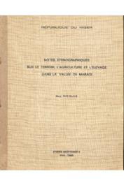 Etudes nigériennes - 08, NICOLAS Guy - Notes ethnographiques sur le terroir, l'agriculture et l'élevage dans la vallée de Maradi