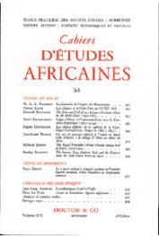 Cahiers d'études africaines - 054