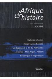 Afrique & Histoire - 05 / Dossier : Villes d'Afrique : circulations et expressions culturelles