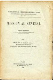 Mission au Sénégal. Tome 1: Etude sur le dialecte Zénaga