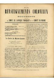 RC - 1905 n° 10,11,12 / Renseignements Coloniaux et Documents publiés par le Comité de l'Afrique Française - 1905 n° 10,11 et 12, BRUEL Georges - Le cercle du Moyen Logone