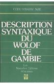 NJIE Codu Mbassy - Description syntaxique du Wolof de Gambie