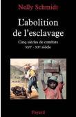 SCHMIDT Nelly - L'abolition de l'esclavage. Cinq siècles de combat (XVIe-XXe siècle)