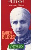 Europe, Revue littéraire mensuelle - n° 887 - Karen Blixen