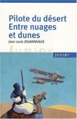 Pilote du désert entre nuages et dunes