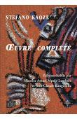 KAOZE Stefano - Œuvre complète. Edition établie par Maurice Amuri Mpala-Lutebele et Jean-Claude Kangomba Lulamba